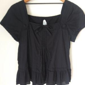 BB Dakota black Peplum blouse size Large